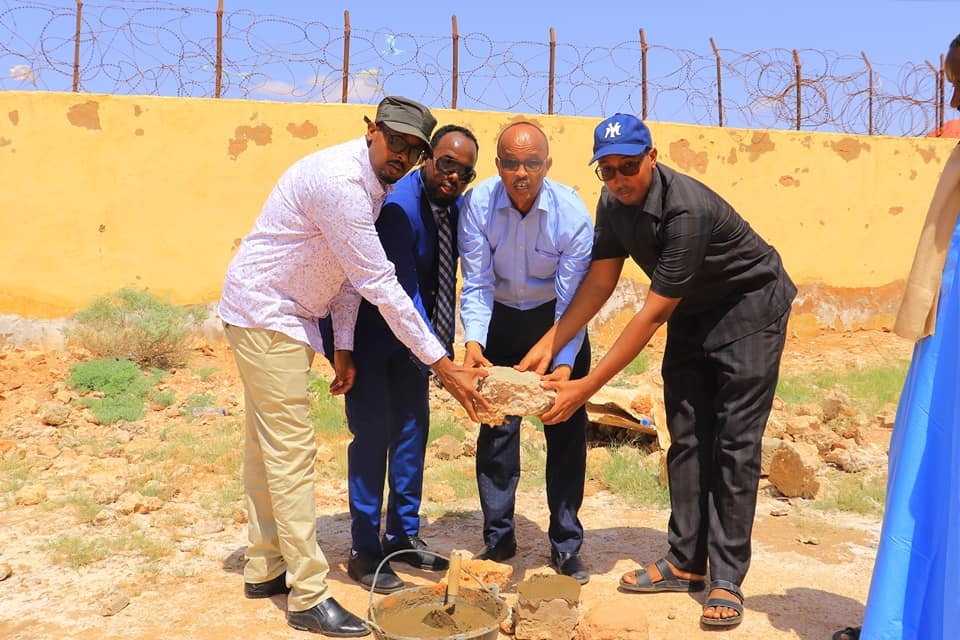 laying of foundation stone for Mudug women peace centre